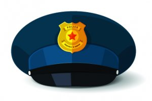 clipart of a police cap