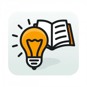 lightbulb and book clipart