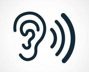 clipart of an ear and listening sound waves