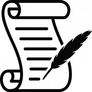 clipart of scroll and quill