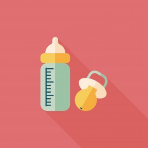 clipart of baby bottle and pacifier