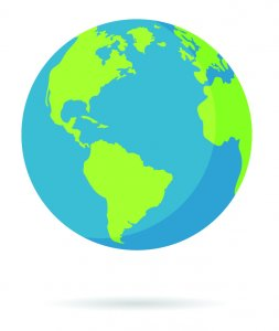 clipart of the world globe